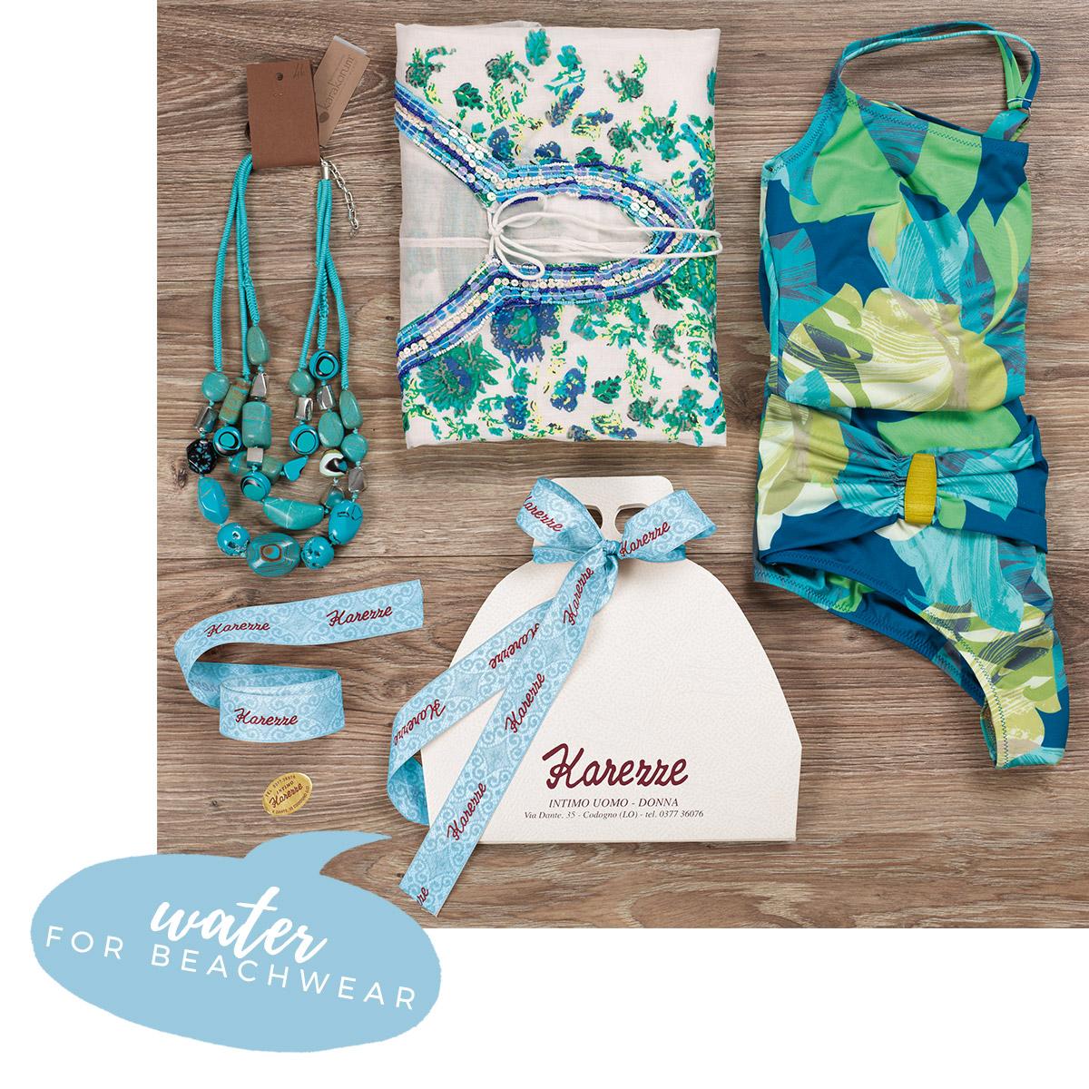water for beachwear