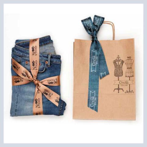 Nastro personalizzato jeans per l'uomo & nastro tweed per la donna
