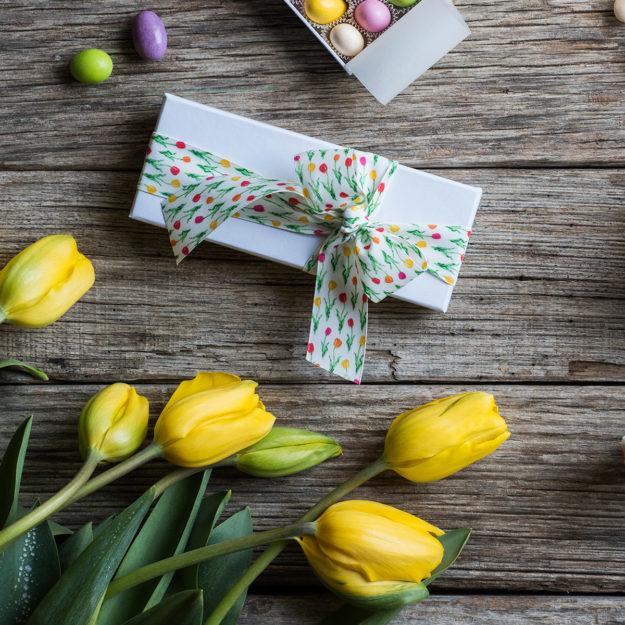 nastro personalizzato tulipani
